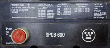 Westinghouse SPCB-600