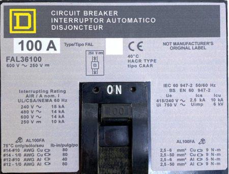Square D FAL36100-NML-GL