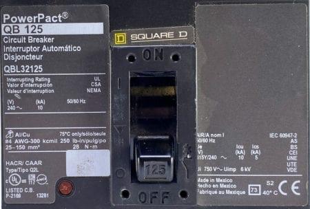Square D QBL32125