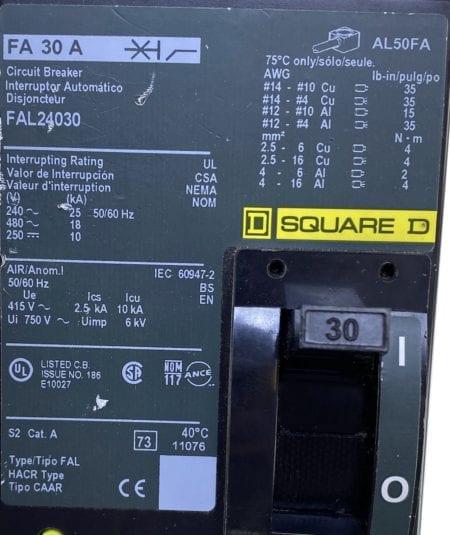 Square D FAL24030-CL