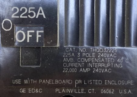 General Electric THQD32225-BF