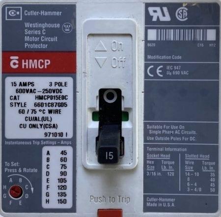 Cutler Hammer HMCP015E0C