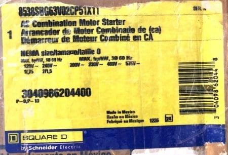 Square D 8538SBG63V02CP51X11-NIB