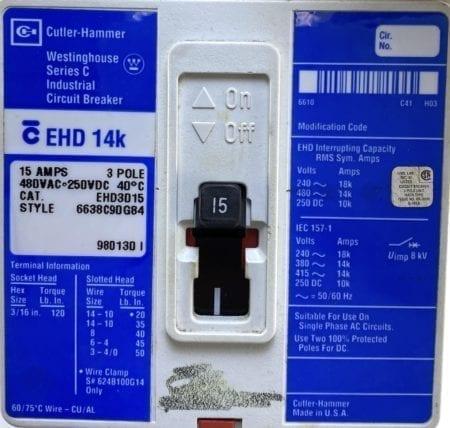 Cutler Hammer EHD3015-BL