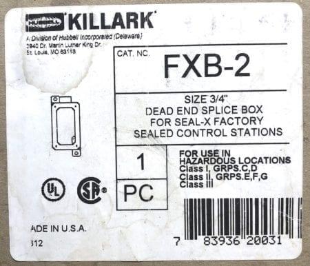 Hubbell Killark FXB-2-NIB