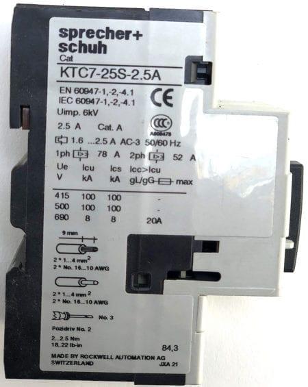 Sprecher + Schuh KTC7-25S-2.5A