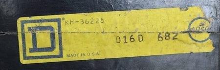 Square D KH36225-BF