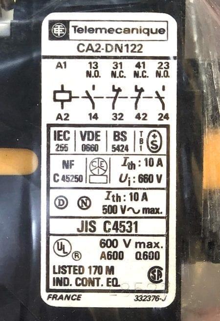 Telemecanique CA2-DN122M-NIB