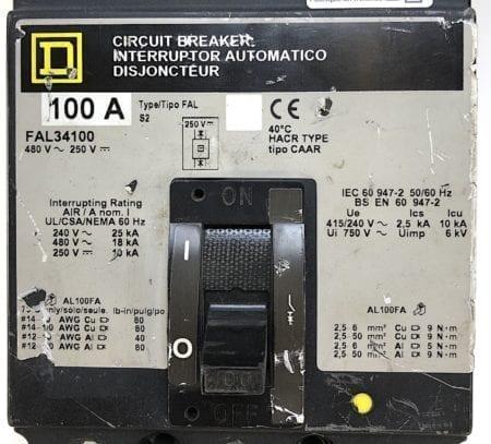 Square D FAL34100-GL