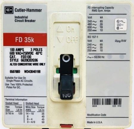 Cutler Hammer FD3100-RL
