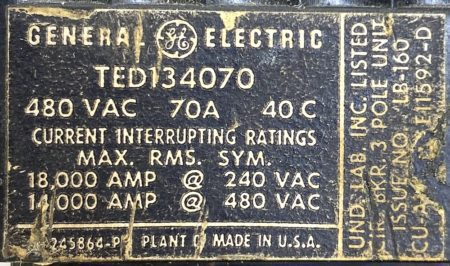 General Electric TED134070-BF