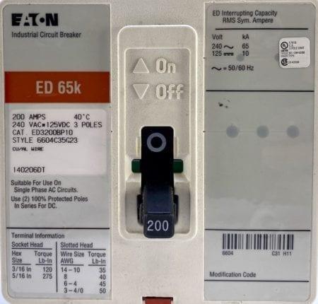 Eaton Cutler Hammer ED3200BP10-RL