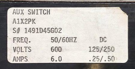 Westinghouse HMCP250C5-AUX-RL