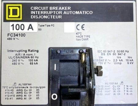 Square D FC34100-GL