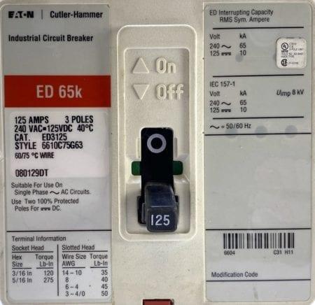 Eaton Cutler Hammer ED3125-RL