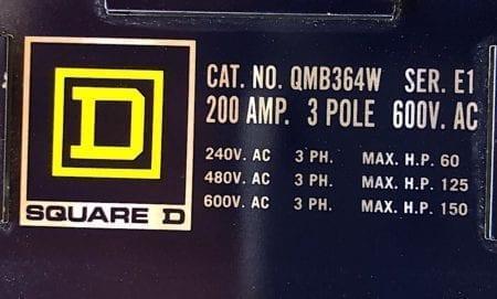 Square D QMB-364W