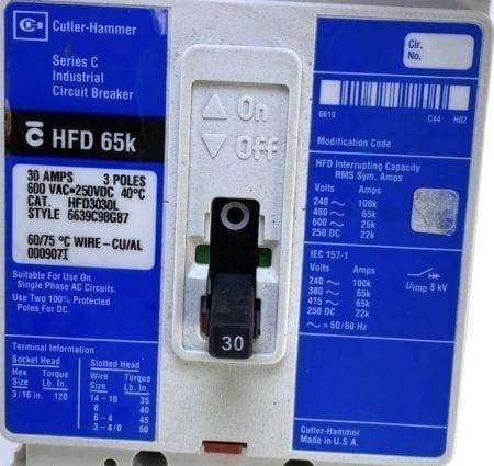 Cutler Hammer Westinghouse HFD3030L-BL