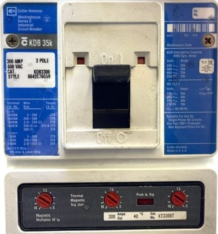Cutler Hammer KDB3300-300-BL