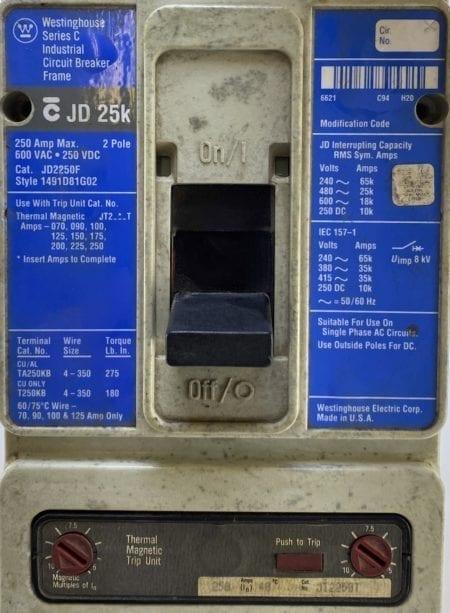 Cutler Hammer JD2250F-250-BL