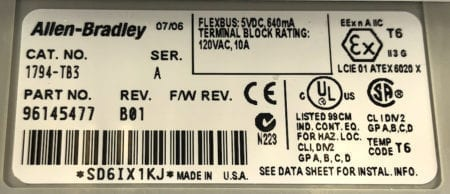 Allen Bradley 1794-IB10xOB6