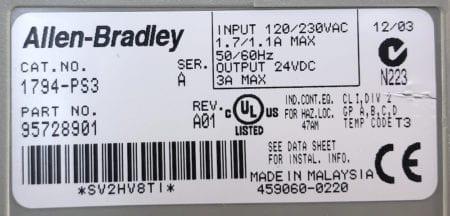 Allen Bradley 1794-PS3-A01
