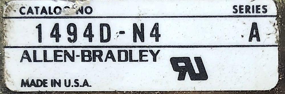 Allen Bradley 1494D-N4