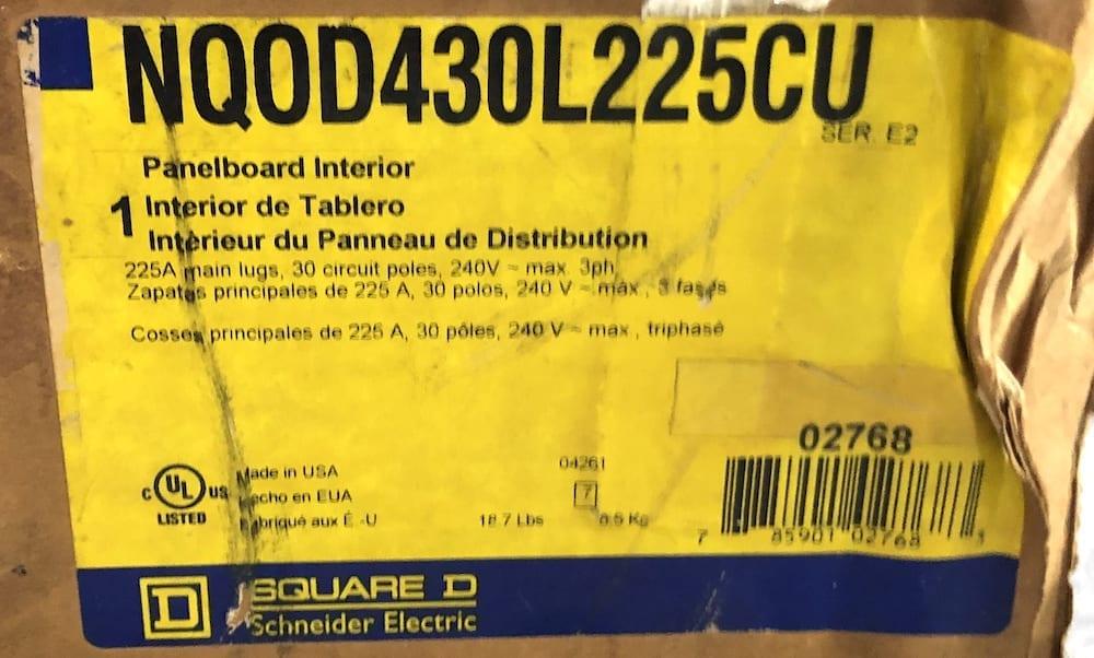 Square D NQOD430L225CU-NIB
