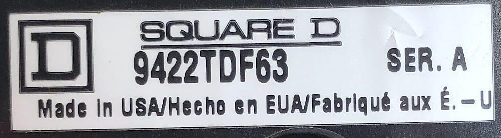 Square D 9422TDF63