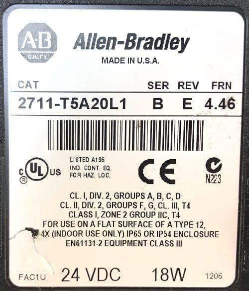 Allen Bradley 2711-T5A20L1