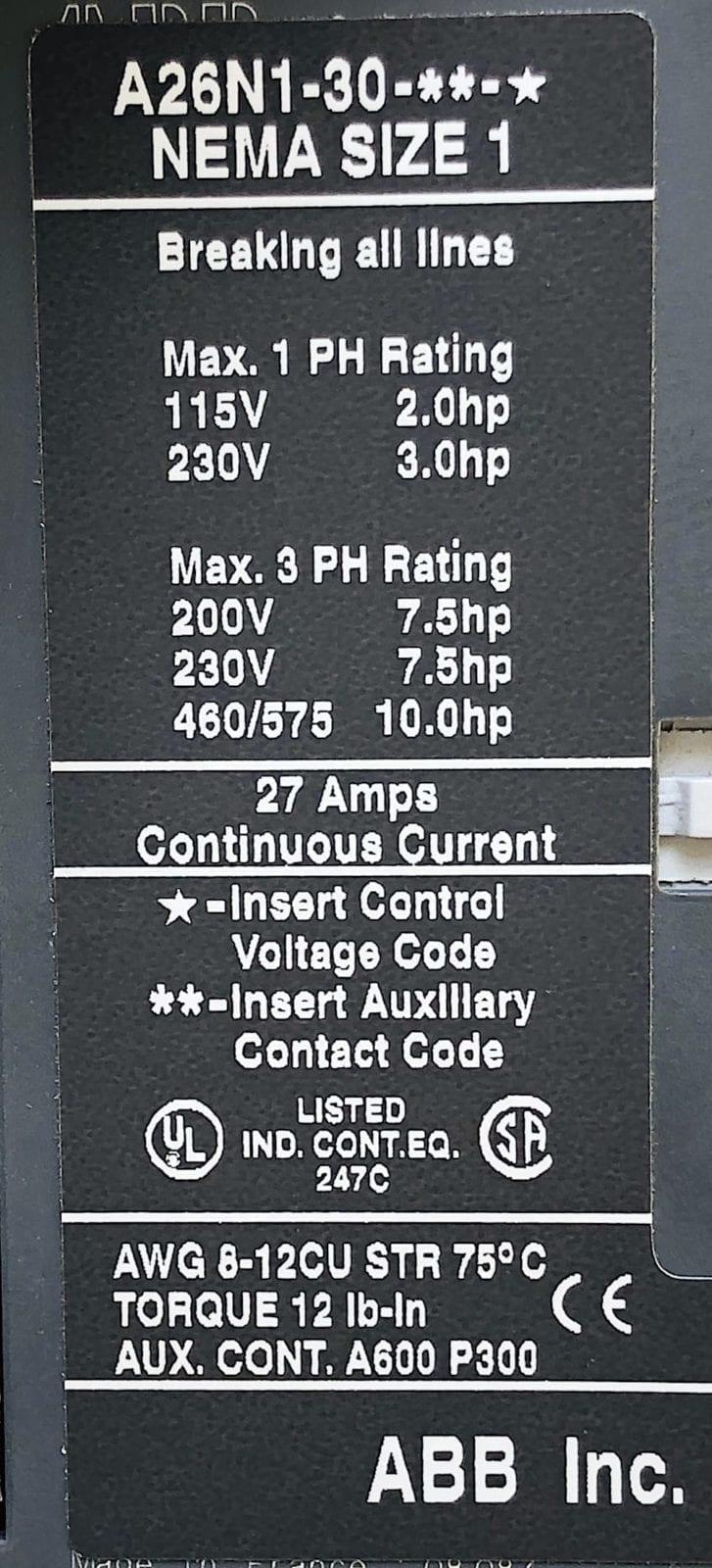 ABB A26-30-10