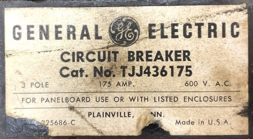 General Electric TJJ436175-175-BF