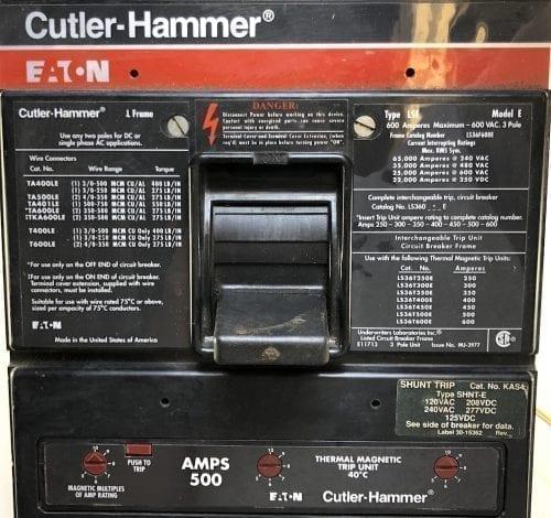 Cutler Hammer LS36F600E-500-ST-RL