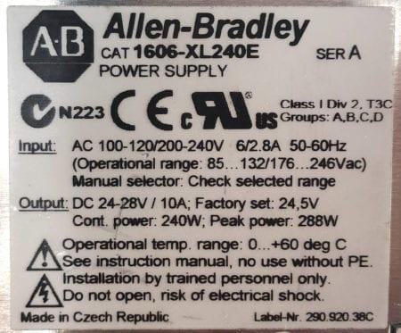Allen Bradley 1606-XL240E