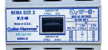Cutler Hammer AN16KN0-120