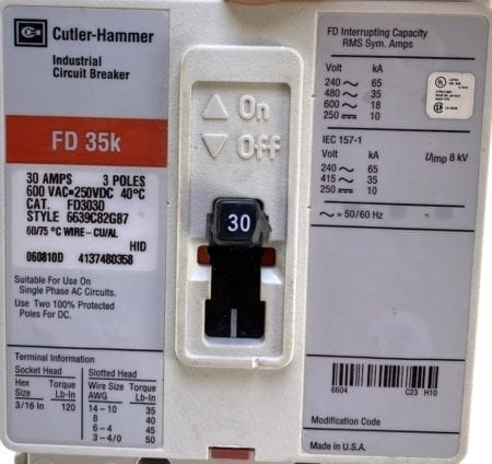 Cutler Hammer FD3030-RL