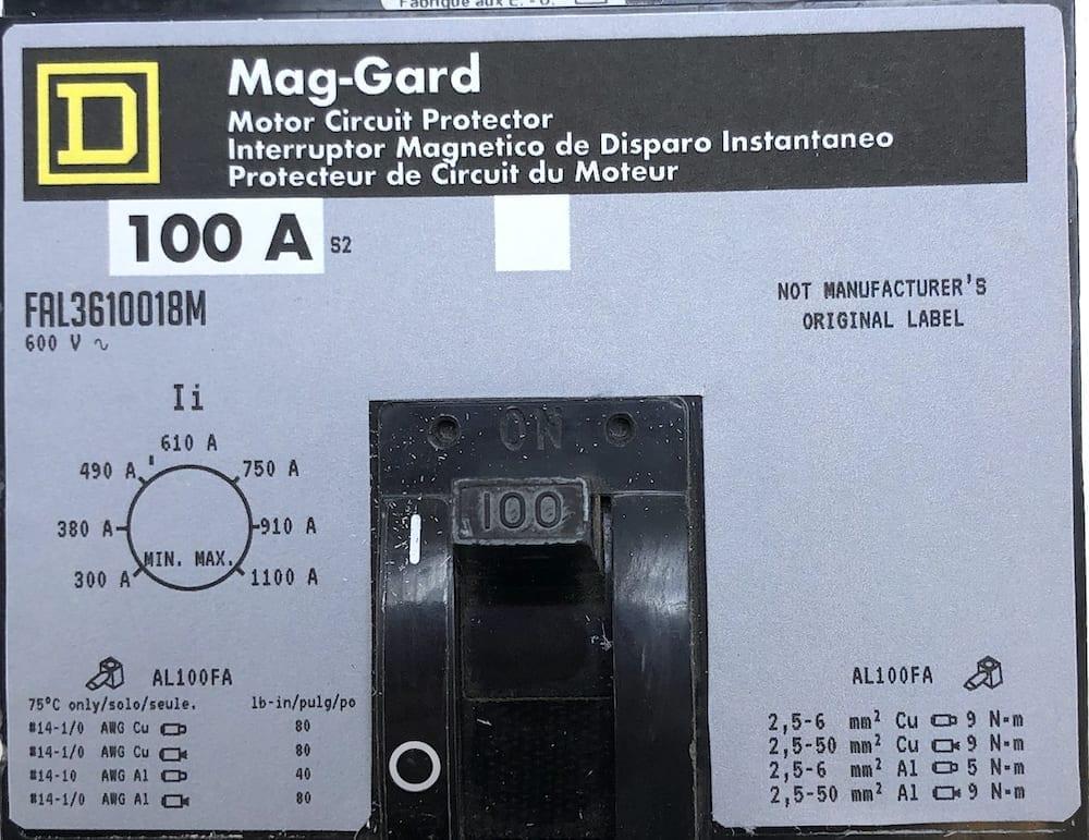 Square D FAL3610018M-NML