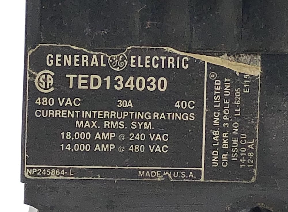 General Electric TED134030-BF