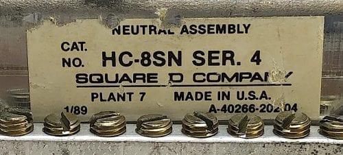 Square D HC-8SN