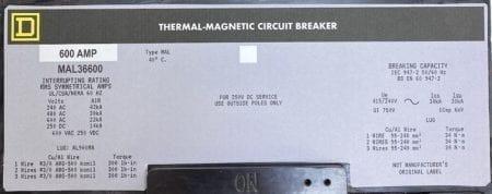 Square D MAL36600-NML