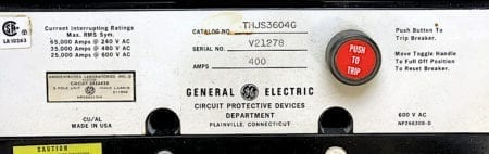 General Electric THJS3604G-400-ST