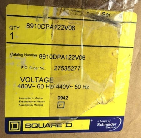 Square D 8910DPA122-NIB