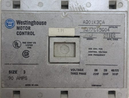 Westinghouse A201K3CA