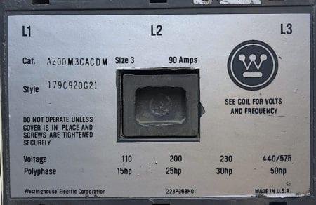 Westinghouse A200M3CACDM-120