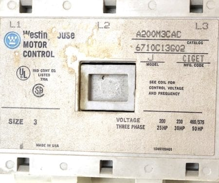 Westinghouse A200M3CAC