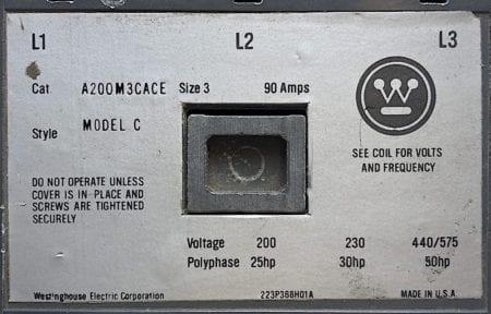 Westinghouse A200M3CACE-120