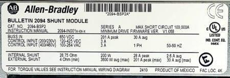 Allen Bradley 2094-BSP2