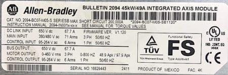 Allen-Bradley 2094-BC07-M05-S