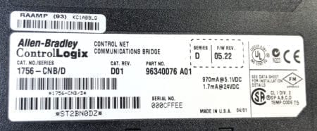 Allen Bradley 1756-CNB-D01
