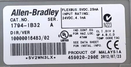 Allen Bradley 1794-IB32