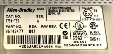 Allen Bradley 1794-IB10xOB6-B01